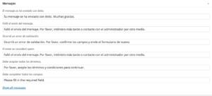 Mensajes Contact Form 7