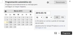 Redes sociales: calendario de publicaciones